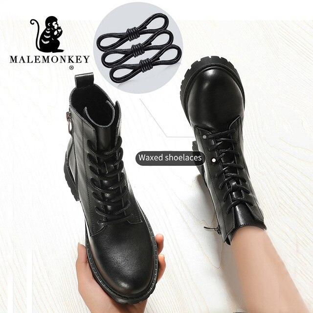 Модные Зимние Женские ботинки Из Натуральной Кожи 4