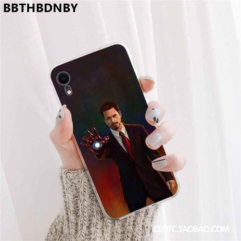 Robert Downey Jr untuk iPhone X atau XS Dompet Indah Ponsel Case Bumper untuk iPhone 11 Pro XS MAX 8 7 6 6S Plus X Se XR Cover
