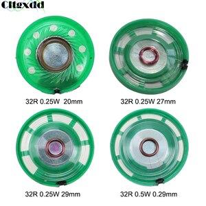 Cltgxdd 2 pçs ultra-fino alto-falante campainha chifre brinquedo-chifre do carro 32 ohms 0.25w 0.5 watt 32r alto-falante diâmetro 20 27 29 mm diâmetro