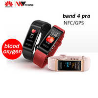 Huawei Band 4 pro SmartBand Heart Rate Health Monitor Standalone GPS Proactive Health Monitoring SpO2 Blood Oxygen
