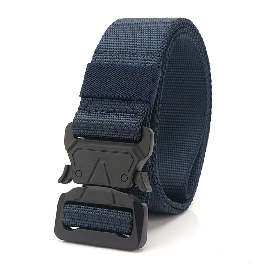 New Army Fan Tactical Belts For Jeans True Nylon Strap Quick Release Metal Buckle Men Adjustable Belt Training Waistban Hunting