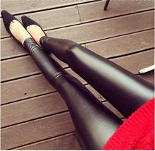 Black Leather Pants 2021 Spring and Summer PU Leather Women's Leggings Outer Wear Thin Pencil Pants Elastic Leggings Female