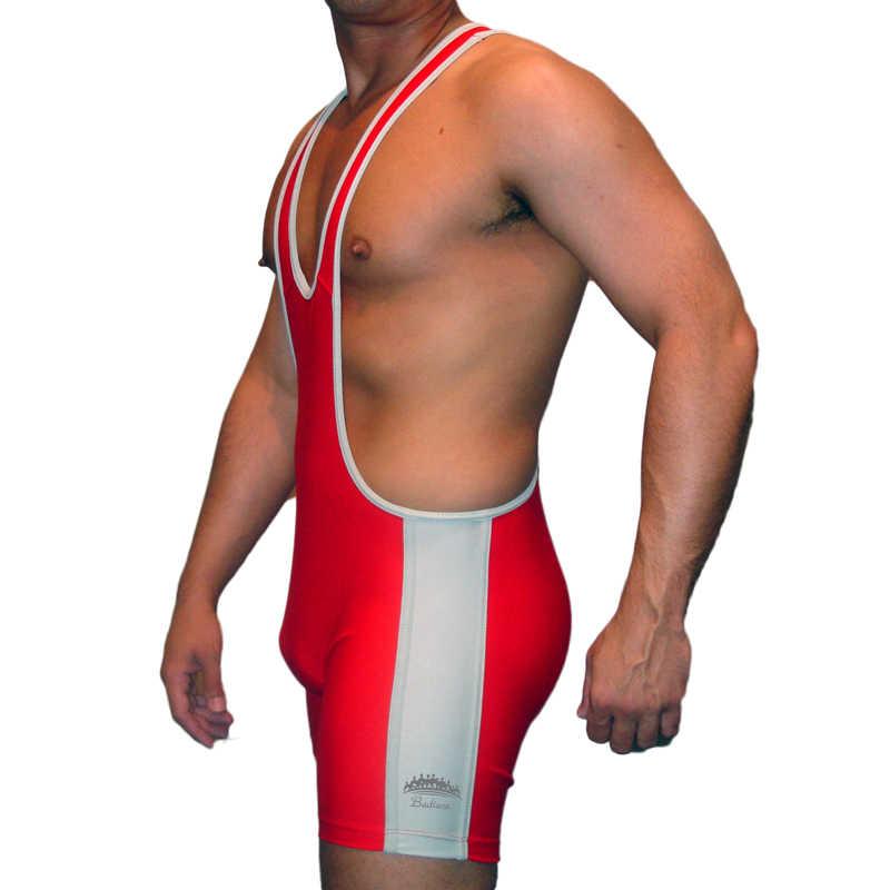 Badiace Cắt Thấp Người Đấu Vật Lót (Đô Vật Leotard Áo Lót Tập Gym Bộ Trang Phục Một Mảnh Thun