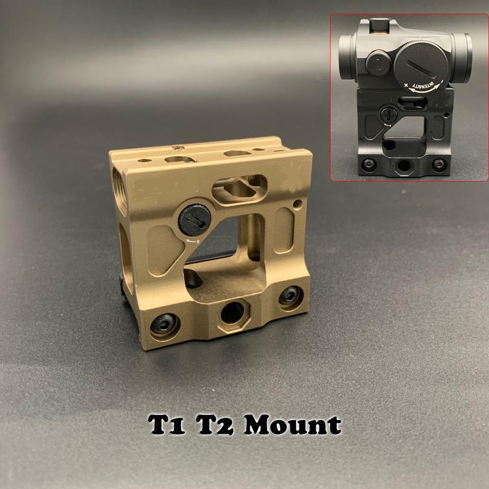 UN universal heightening bracket Airsoft T1 / T-1 / T2 / T-2 / TARGET TR02 레드 닷 (블랙/탄) 용 레드 닷 sightarget F1 마운트