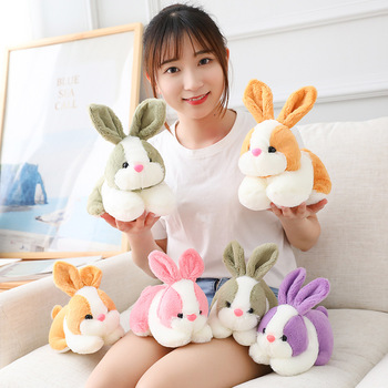 Hot 1PCS 22CM/28CM Kawaii 4 Colors Rabbit Animals Stuffed Cute Plush Toys Lovely Bunny Doll For Baby Girls Kids Birthday Gifts fancytrader large plush bunny doll lovely soft stuffed cartoon rabbit kids toys gifts pink purple for chilren 100cm