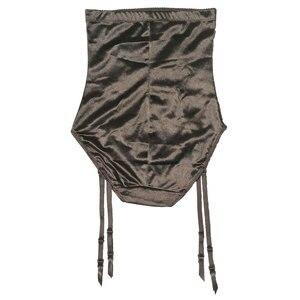 Image 2 - سراويل داخلية عالية الخصر للتحكم في البطن مزودة بحزام رباط للجوارب حريمي بحزام قابل للإزالة بمشابك معدنية BS050