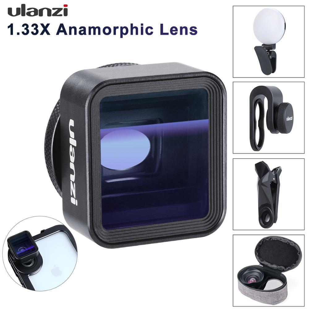 Ulanzi ユニバーサル 1.33X Anamorphic 電話レンズ iphone Xs Max X Huawei 社 P20 プロメイト動画撮影フィルム電話レンズ  グループ上の 携帯電話 & 電気通信 からの 携帯電話レンズ の中 1