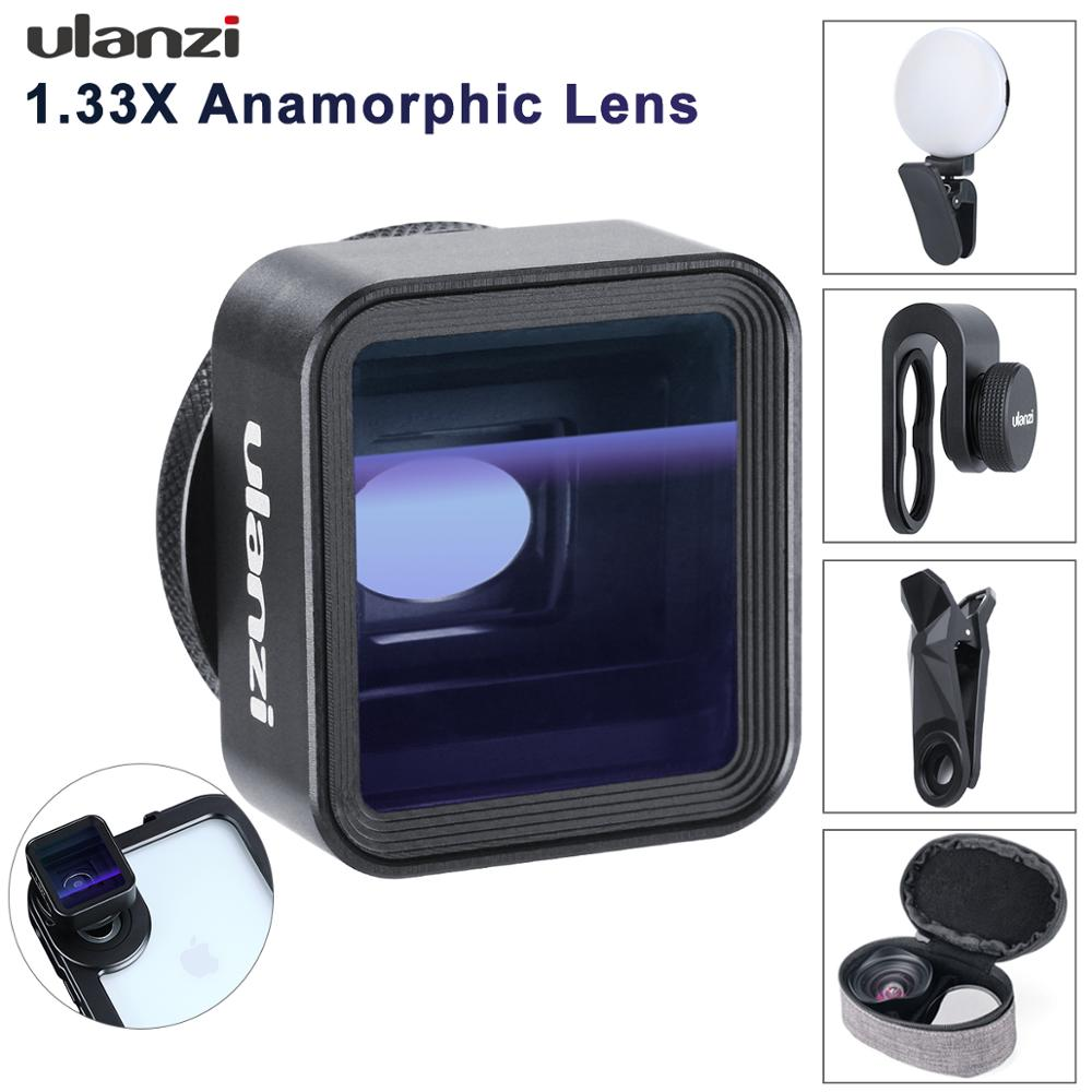 Ulanzi Universal 1.33X Anamorphic Phone Lens for iPhone Xs Max X Huawei P20 Pro Mate Movie Shooting Film Making Phone Lens with