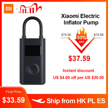 Xiaomi Electric Inflator Pump Smart Digital Tire Pressure Detection For Scooter Bike Motorcycle Scooter M365 Pro Car Football