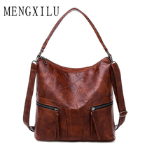 Vintage Women Handbag Leather Female Shoulder Bag Designer Retro Women Messenger Bags High Quality Large Tote Bolsas Feminina