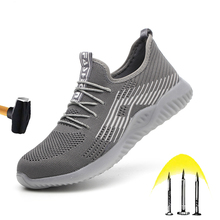 New Breathable Safety Shoes 2020 Mens Summer Steel Toe Smash Resistant Lightweight Work Shoes Stab resistant Construction Boots