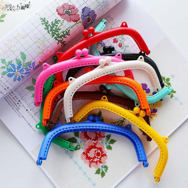 MIUSIE 10 Farben Harz Geldbörse Rahmen Tasche Kuss Schließe Sperre Handtasche 8,5 cm Heißer Tasche Teile & Zubehör