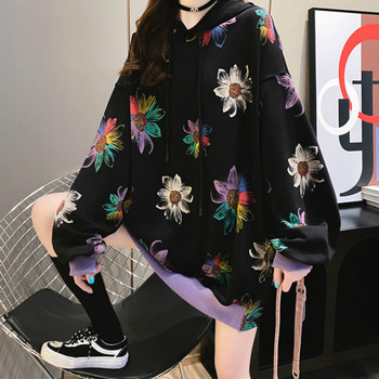 Deeptown Korean Style Sweatshirt Women Autumn Fashion 2020 Cotton Print  Hoodies Women Long Sleeve Harajuku Pullover Ladies Tops toddler sweatshirt boy autumn 2019 cartoon funny superman hoodies pullover tops t shirt cotton soft print long sleeve boys tops