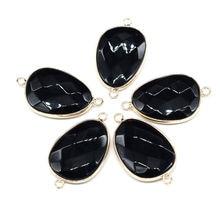 Подвески в форме капли из натурального камня черный оникс фотоаксессуары