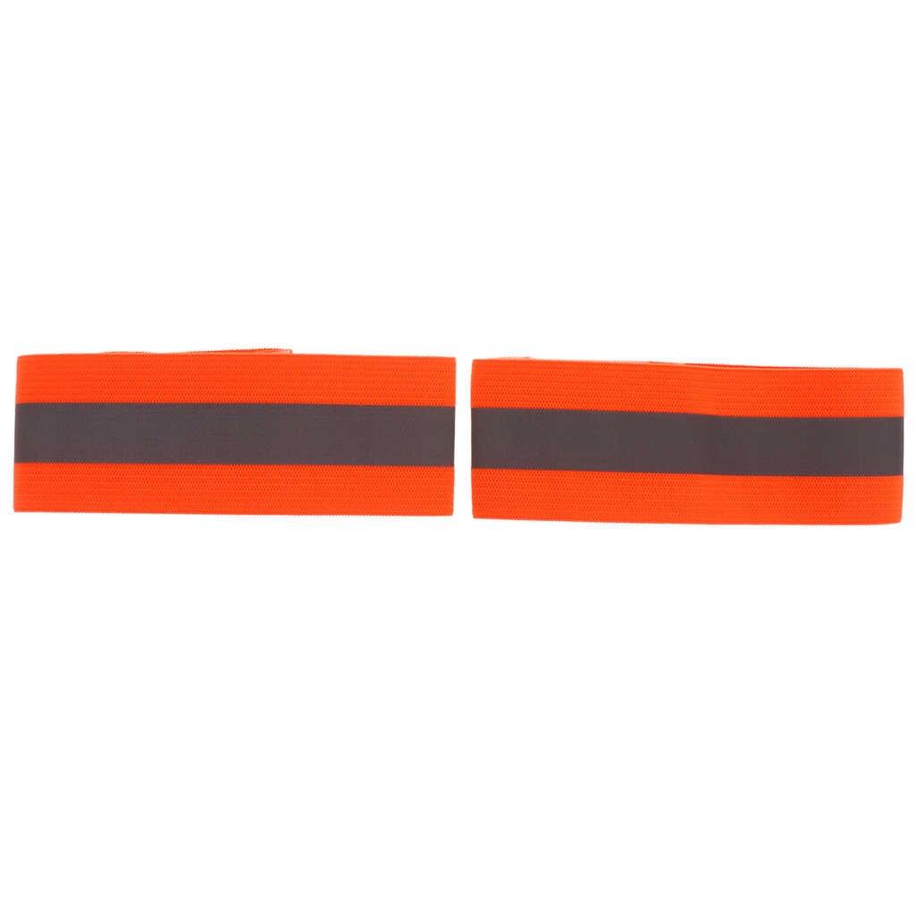 2 Stuks Reflecterende Pols Band Hand Arm Strap Ankle Armband Voor Hardlopen Jogging
