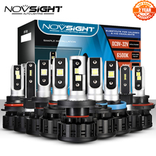 NOVSIGHT H4 LED H7 H11 H8 9006 HB4 H1 H3 HB3 H9 H13 9007 HB3 9003 HB2 רכב פנס נורות LED מנורת 18000LM 6500K 12V