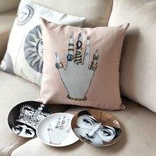 Fornaseti Итальянская серия наволочка для художественной спальни гостиной Прямая поставка наволочка для домашнего зала декоративная подушка