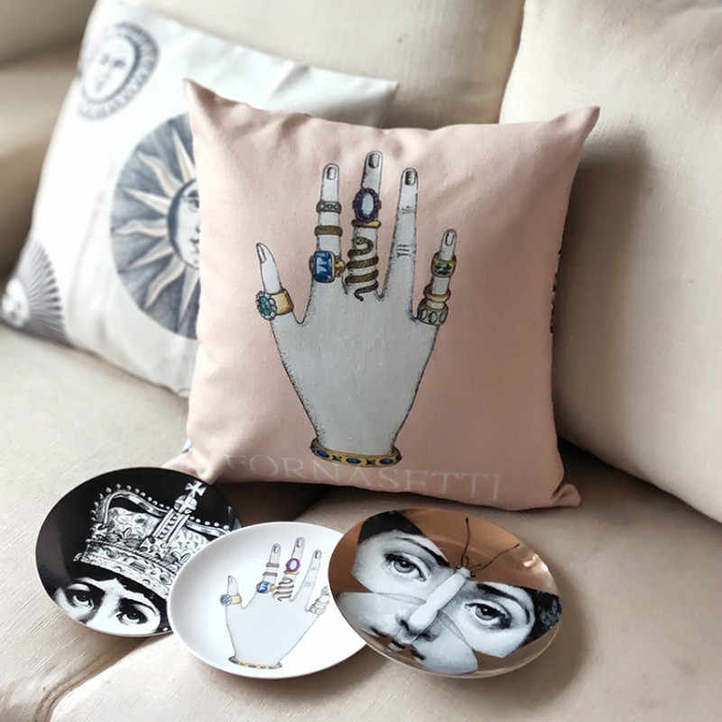 New Fornaseti  Italian Series  Pillow Cover for Art Bedroom A Living Room  Dropshipping Pillowcase Home Hall Decorative Cushion