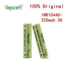 Vapcell inr original 10440 320 mah 3a max contínua hkj teste de descarga bateria recarregável pilha para lanterna frete grátis