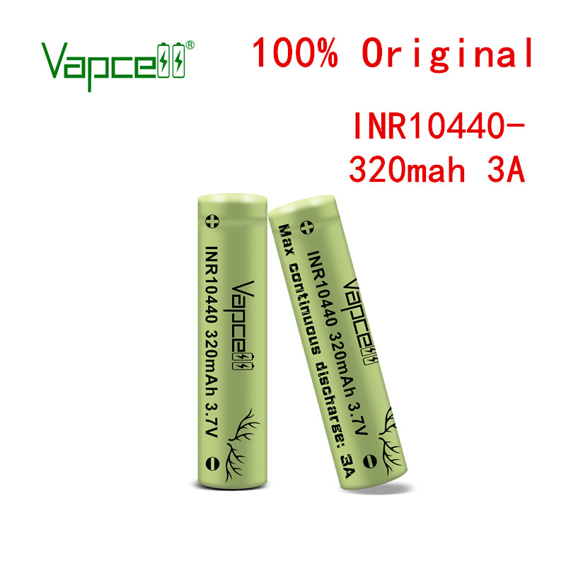 Vapcell original INR 10440 320 mah 3A max continuous HKJ test discharge rechargeable battery cell for flashlight Free shipping
