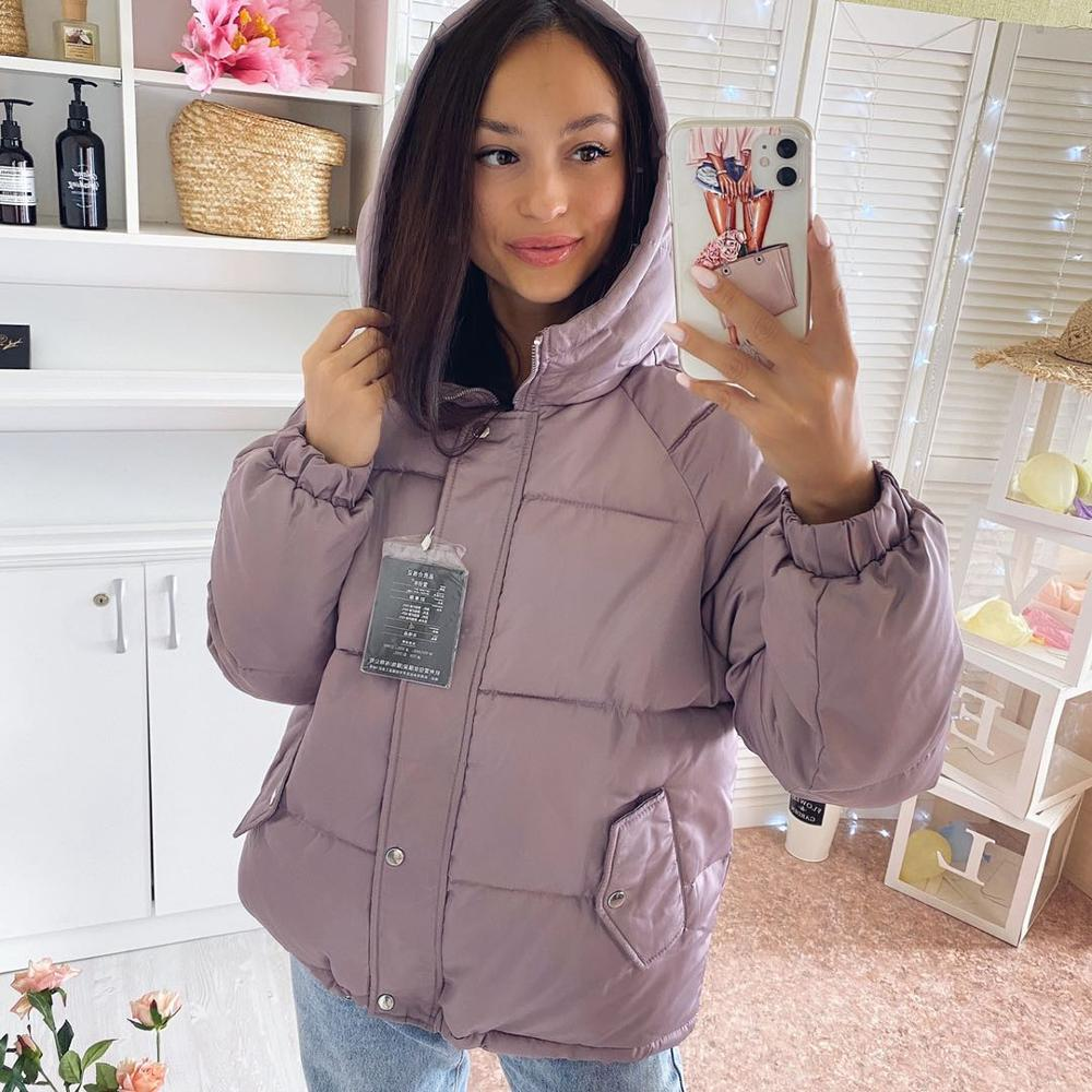 Winter women Parkas coat 2020 casual thicken warm hooded padded jackets Female solid colorful styled outwear snow jacket(China)