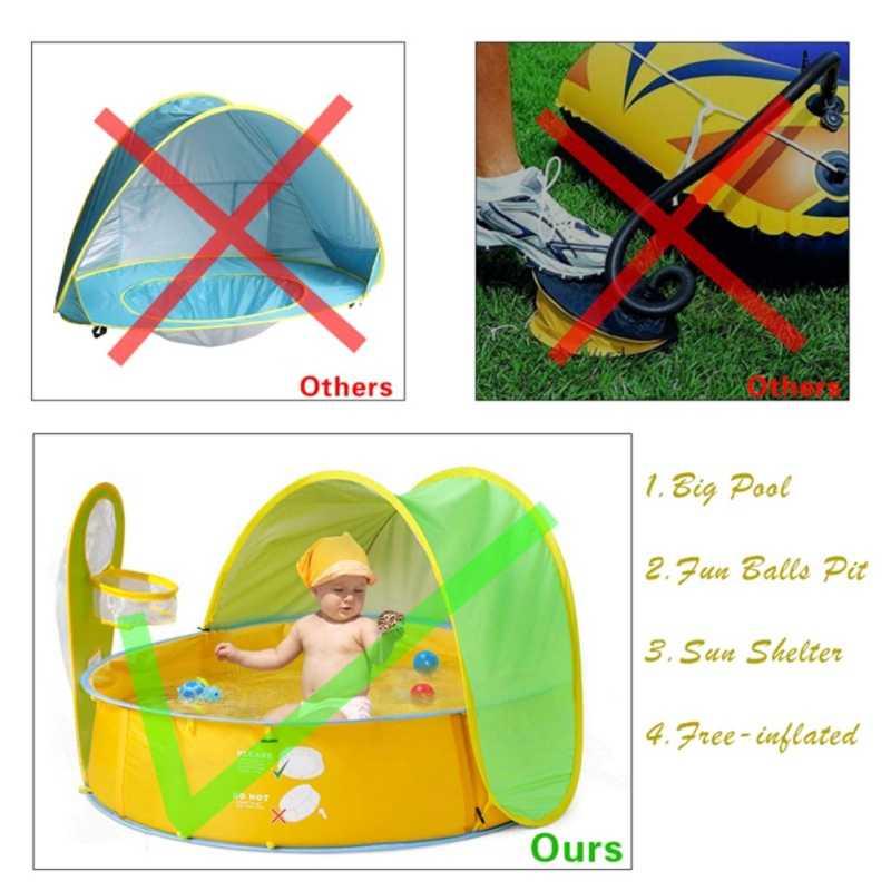 Barracas de acampamento ao ar livre Pop-Up Barraca Da Praia Do Bebê Proteção UV Sol Abrigos Portáteis Crianças Brincam Tenda Dobrável Ao Ar Livre Indoor bebê