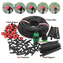 MUCIAKIE 50M 5M DIY Drip Irrigation System Automatic Watering Garden Hose Micro Drip Watering Kits with Adjustable Drippers