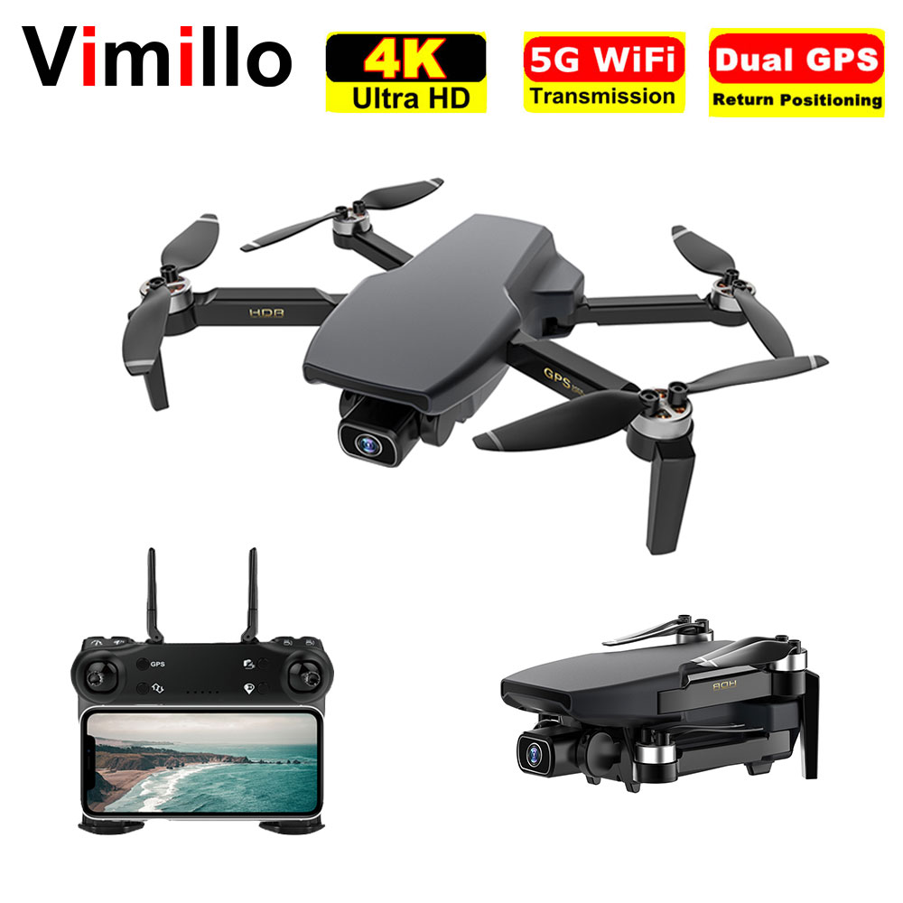 Vimillo S3 4K Profenssional Drone With Camera GPS 5G WiFi Dron Brushless 25mins Distance 1km Professional Rc Quadcopter PK EX5 1
