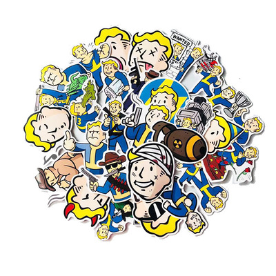 29Pcs Fallout Game Sticker For Luggage Skateboard Phone Laptop Moto Bicycle Wall Guitar Waterproof PVC Stickers