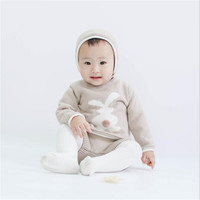 Baby Girl Boy Clothes Cotton Bunny Knitted Baby Clothes Newborn Spring Winter Baby Clothing Set Infant Sweater Shorts Hat 3Pcs