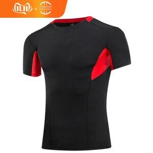 Image 1 - Yuerlian 2019 liberação ginásio tshirt para homens logotipo personalizado calças de fitness masculino rashgard esporte camisa homem compressão ginásio camisa