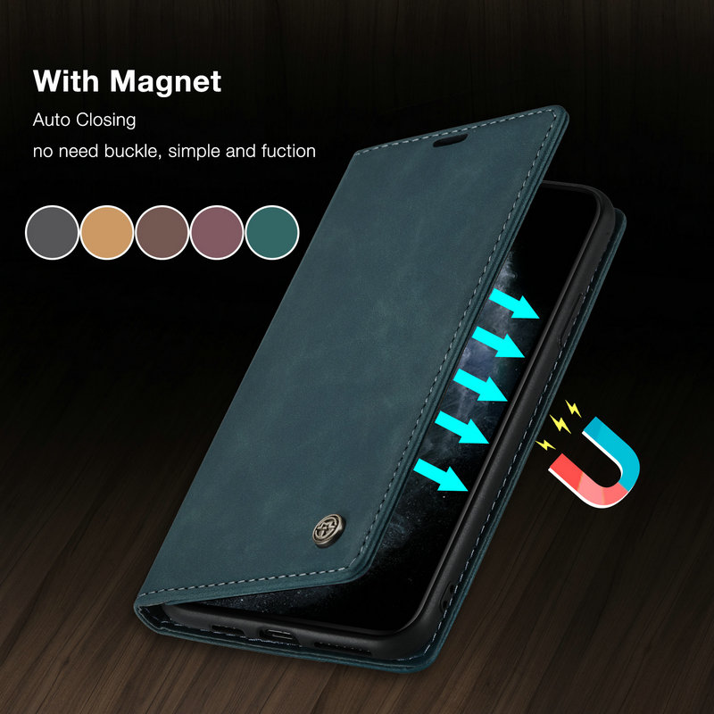 CaseMe Original Flip <font><b>Case</b></font> For <font><b>iPhone</b></font> 11 Pro Retro Magnetic Credit Card Stand <font><b>Wallet</b></font> <font><b>Case</b></font> For <font><b>iPhone</b></font> 11 Pro Max 6 7 8 Plus Coque image