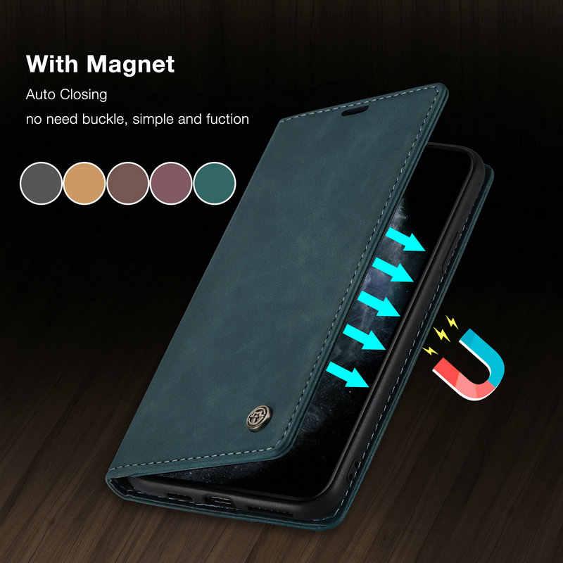 Caseme Originele Flip Case Voor Iphone 12 11 Pro Retro Magnetische Card Stand Wallet Voor Iphone 12 11 Pro Max 6 7 8 Plus SE2020 Case