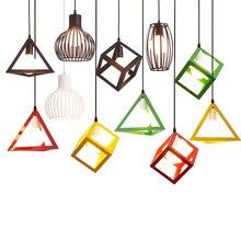 Lámpara de techo Retro E27 de hierro para pasillo, 110V, 220V, LED Vintage, tend-Lámpara ant para restaurante, pasillo, balcón