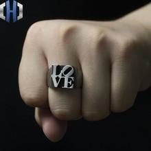 Original Design Handmade Silver Decoration Love925 Ring Male Personality Letter Female