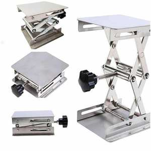 Scissor Table-Rack Lab-Stand Lab-Lift-Lifter Woodworking Benches Stainless-Steel Science-Experiment