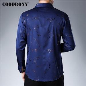 Image 3 - COODRONY מותג גברים חולצה ארוך שרוול כותנה חולצה גברים סתיו Mens מזדמן חולצות Streetwear אופנה עיצוב Camisa Masculina 96069