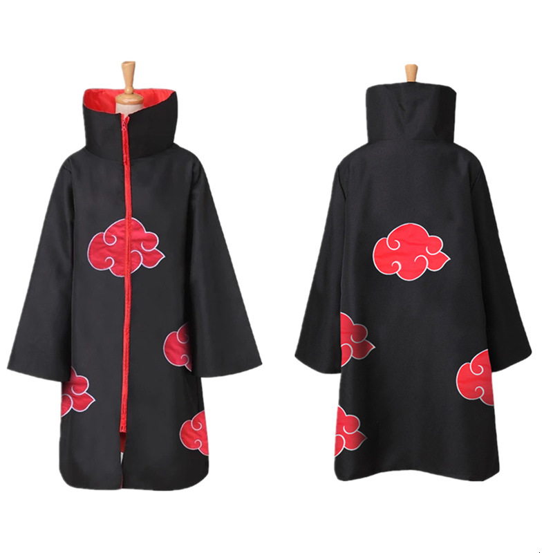 Cosplay Anime Naruto Cloak Cape Akatsuki Uchiha Itachi Fancy Robes Outfits Halloween Christmas Adult Coat Jackets Party Costumes