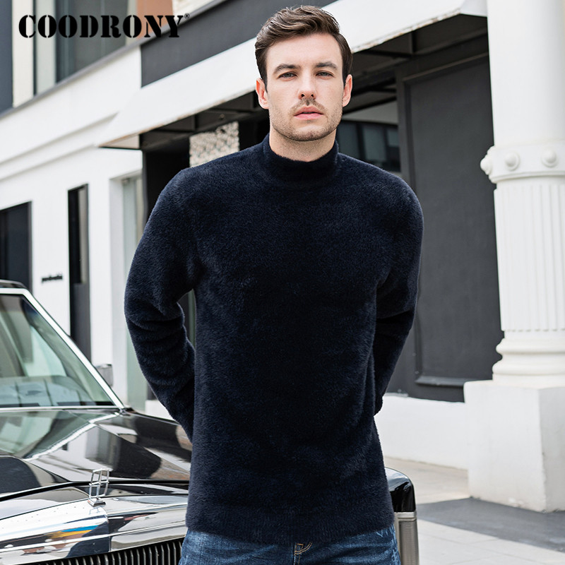 COODRONY Brand Turtleneck Men Fashion Casual Pull Homme Autumn Winter Thick Warm Sweater Men Fleece Knitwear Jersey Hombre C1026
