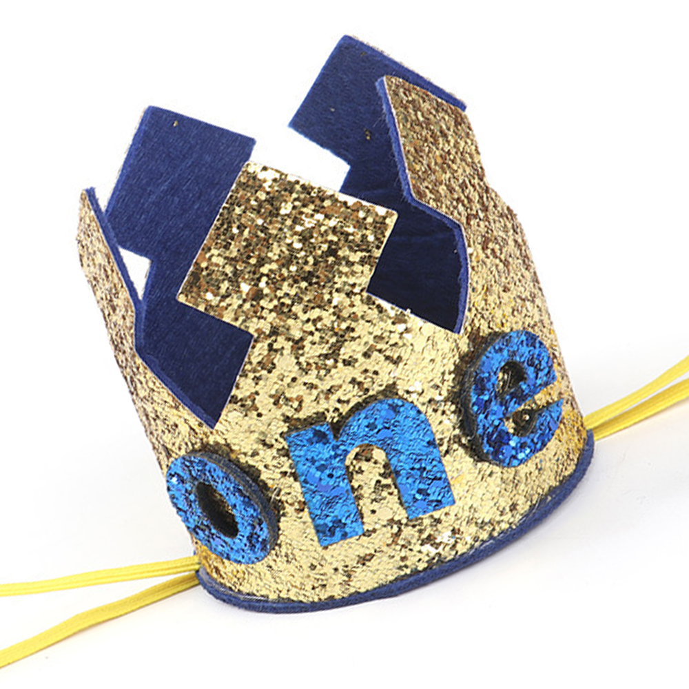 Sparkling Baby Boys One Birthday Crown First Birthday Crown Baby Baby Boy Cake Smash Gold And Blue Boys Party Crown Photo Prop Kids Baby Accessories Aliexpress