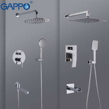 GAPPO Shower Faucet bathroom shower mixer taps bath mixer bathtub faucet set waterfall shower set chrome rain shower head set 1