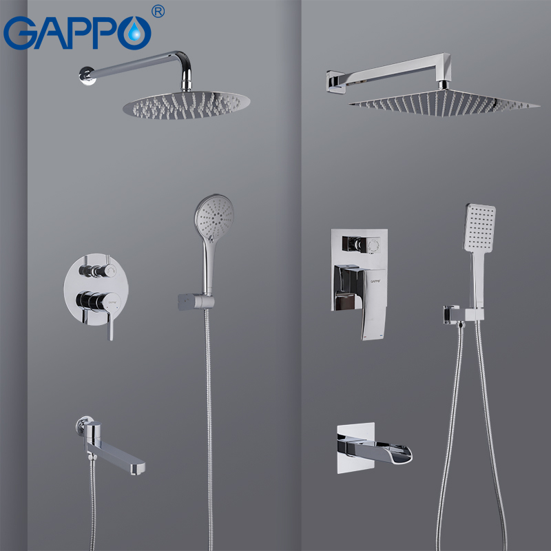GAPPO Shower Faucet bathroom shower mixer taps bath mixer bathtub faucet set waterfall shower set chrome rain shower head set