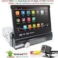Android 9.0 Hd 1024*600 Auto Dvd Speler Radio Voor Universele Auto Radio Monitor 4G Wifi Gps Navigatie hoofd Unit 1din 2G Ram Rds Bt