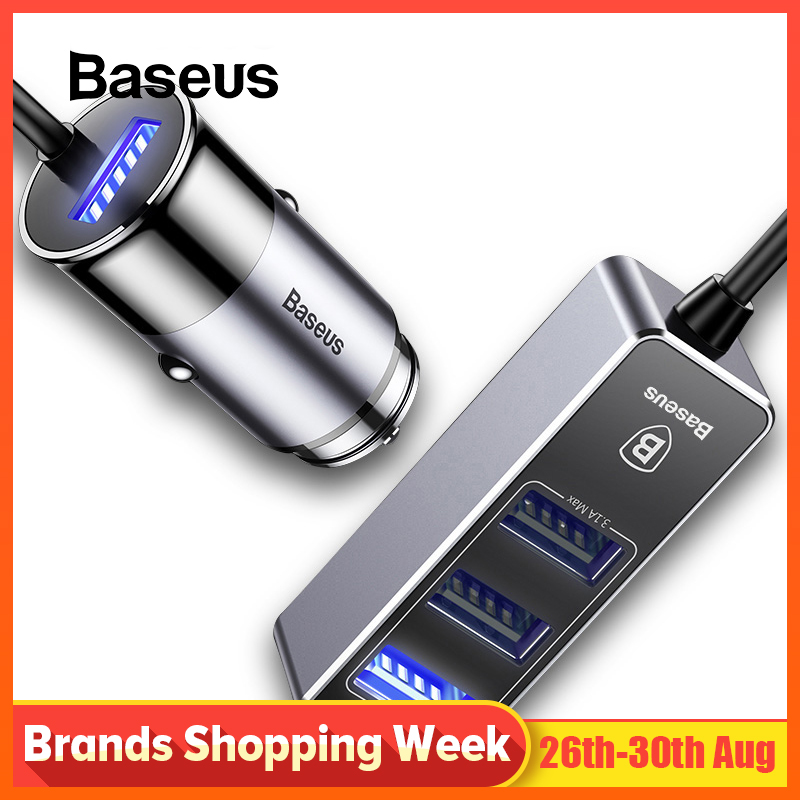 Baseus Car-Charger Adapter Samsung Tablet iPad iPhone Fast 4 USB for 5V 4-Usb