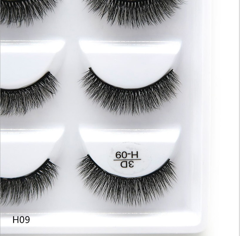 250 pairs of 50 boxes Eyelashes 3d mink eyelashes natural long Mink eyelashes 1cm-1.5cm 3d false eyelashes full