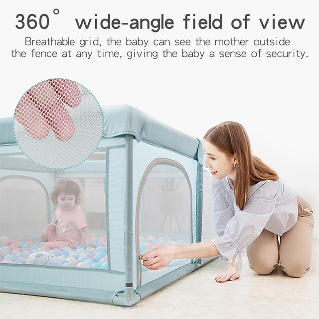 Baby Playpen for Children Pool Balls Newborn Mesh Fence Breathable Baby Pool Playpen Kids Safety Barrier