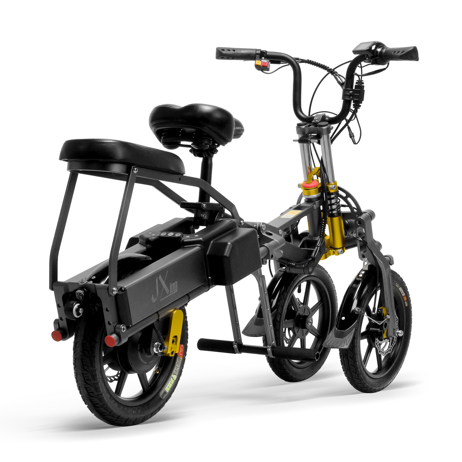 JX003 Chinese 48V 350W folding scooter electric tricycle 4