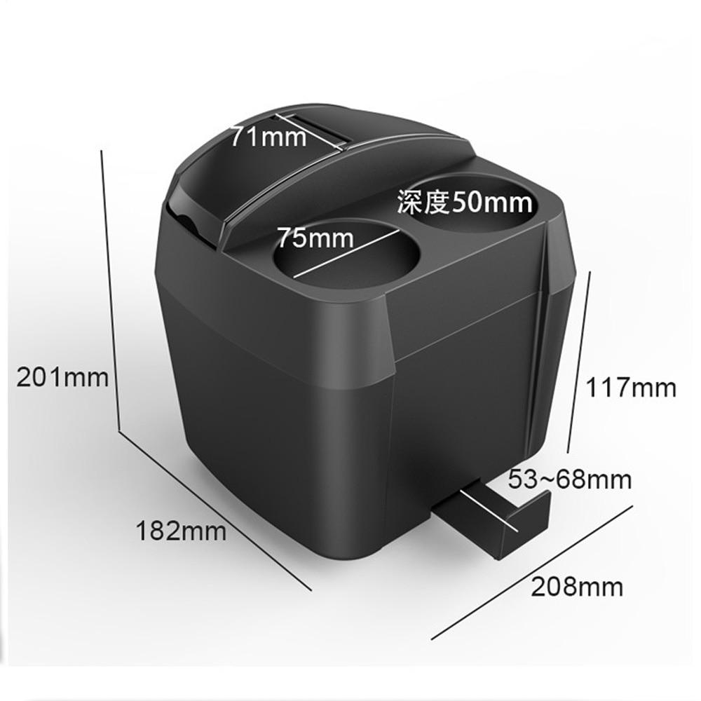 Многофункциональный 3 в 1 Автомобильный подстаканник/мусорное ведро/зажим для ткани бутылка для напитков может мусорное ведро зажим для ткани