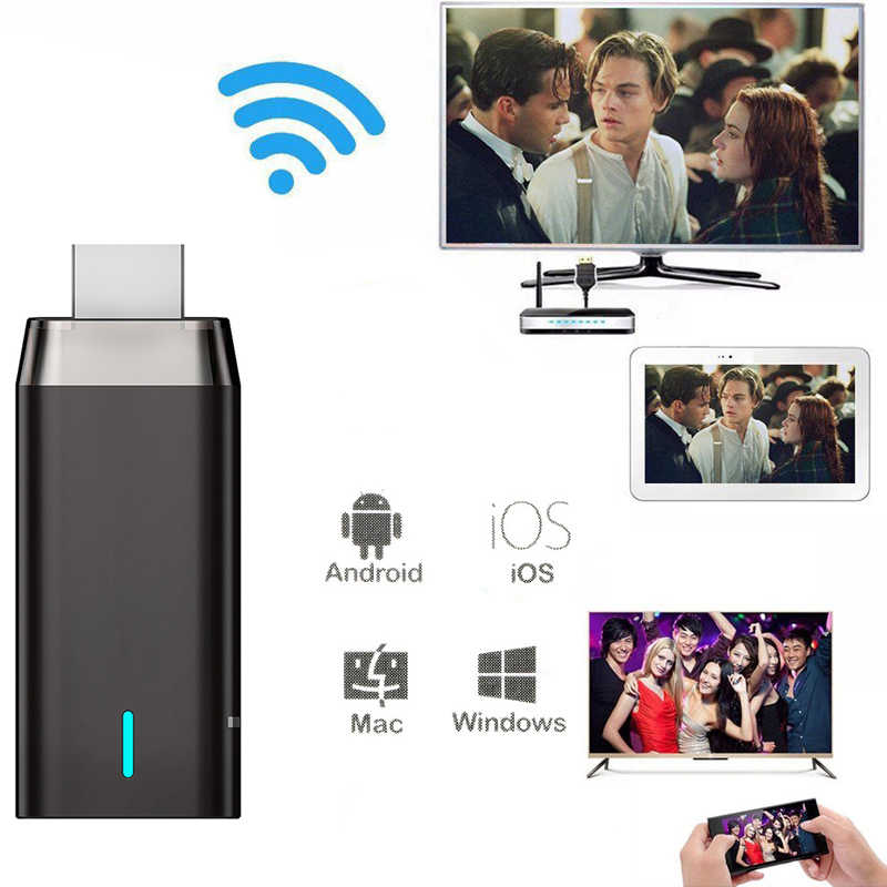 2.4G 5G Dual Band Wireless Wifi Display Dongle Video Adapter Dlna Airplay Miracast Voor Iphone Xiaomi Huawei Android telefoon Naar Tv