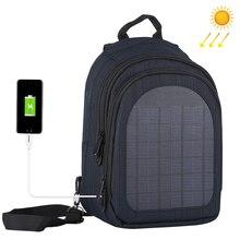 Haweel 5 w 태양 전지 패널 남자 배낭 전원 배낭 usb 충전 도난 방지 노트북 여행 배낭 남자 캔버스 bagpack